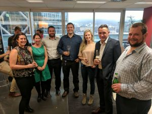 The team behind NZTA MapHub 2 celebrating its success